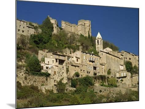 Houses, Church and Old Walls at Montbrun Les Bains in Drome, Rhone-Alpes, France, Europe-Michael Busselle-Mounted Photographic Print