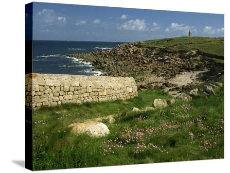 Rocks Along the Coastline of Firmanville-Manche, in Basse Normandie, France, Europe-Michael Busselle-Stretched Canvas Print