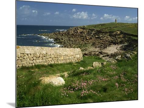 Rocks Along the Coastline of Firmanville-Manche, in Basse Normandie, France, Europe-Michael Busselle-Mounted Photographic Print