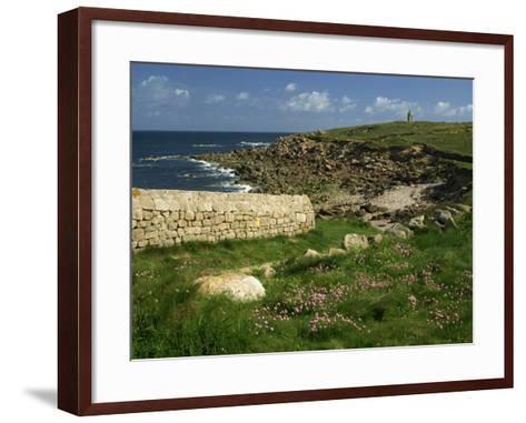 Rocks Along the Coastline of Firmanville-Manche, in Basse Normandie, France, Europe-Michael Busselle-Framed Art Print
