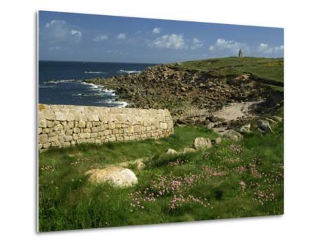 Rocks Along the Coastline of Firmanville-Manche, in Basse Normandie, France, Europe-Michael Busselle-Metal Print