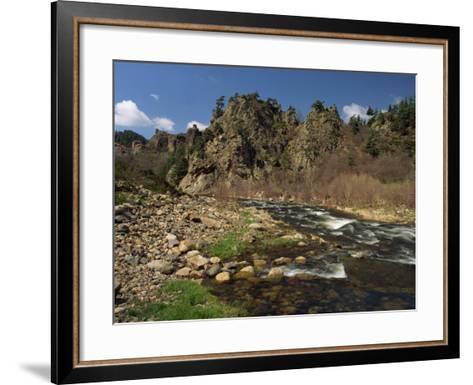 River Loire Near Arlempdes, Haute Loire, in the Auvergne, France, Europe-Michael Busselle-Framed Art Print