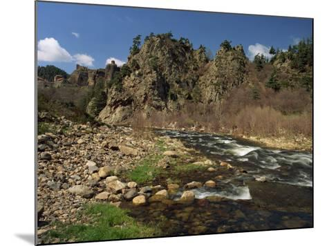 River Loire Near Arlempdes, Haute Loire, in the Auvergne, France, Europe-Michael Busselle-Mounted Photographic Print