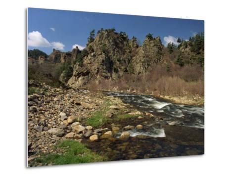 River Loire Near Arlempdes, Haute Loire, in the Auvergne, France, Europe-Michael Busselle-Metal Print