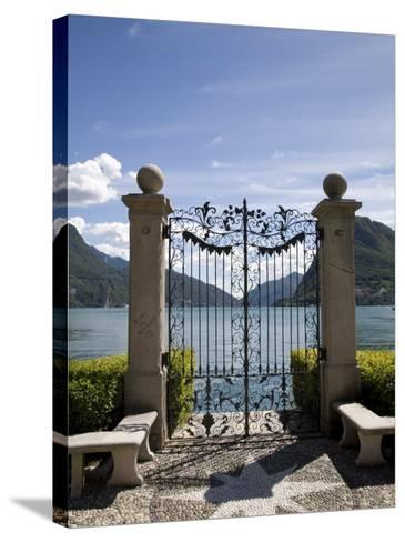Lugano, Lake Lugano, Tessin Canton, Switzerland, Europe-Angelo Cavalli-Stretched Canvas Print