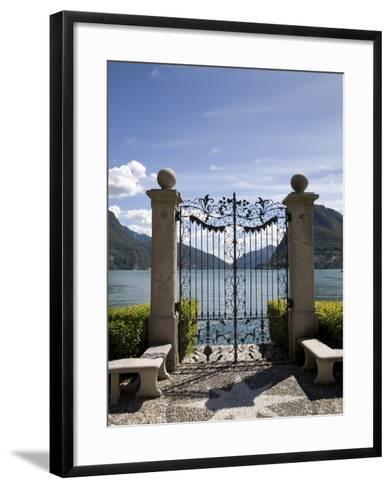 Lugano, Lake Lugano, Tessin Canton, Switzerland, Europe-Angelo Cavalli-Framed Art Print