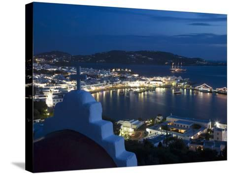 Chora, Mykonos, Cyclades, Greek Islands, Greece, Europe-Angelo Cavalli-Stretched Canvas Print