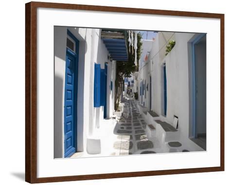 Chora, Mykonos, Cyclades, Greek Islands, Greece, Europe-Angelo Cavalli-Framed Art Print