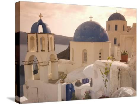 Oia, Santorini, Cyclades, Greek Islands, Greece, Europe-Angelo Cavalli-Stretched Canvas Print