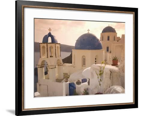 Oia, Santorini, Cyclades, Greek Islands, Greece, Europe-Angelo Cavalli-Framed Art Print