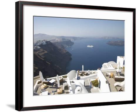 Santorini, Cyclades, Greek Islands, Greece, Europe-Angelo Cavalli-Framed Art Print
