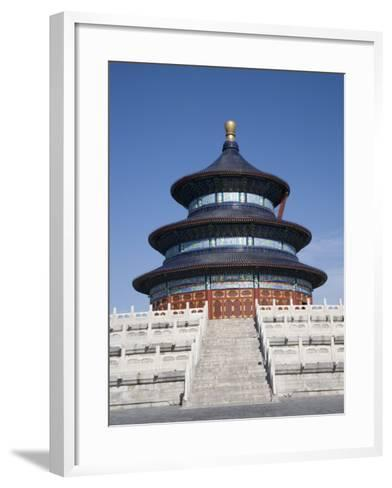 Temple of Heaven, UNESCO World Heritage Site, Beijing, China-Angelo Cavalli-Framed Art Print