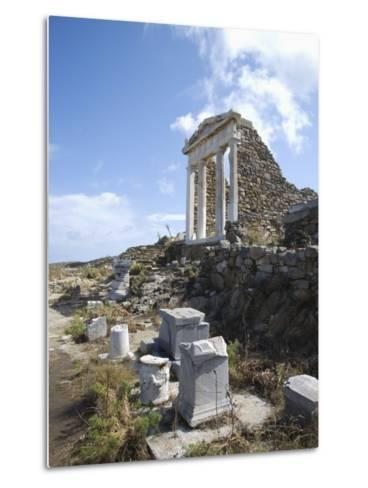 Temple of Isis, Island of Delos, Cyclades, Greek Islands, Greece, Europe-Angelo Cavalli-Metal Print