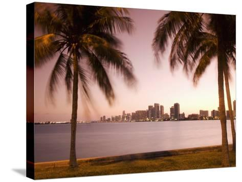 Downtown Miami Skyline at Dusk Miami, Florida, United States of America, North America-Angelo Cavalli-Stretched Canvas Print