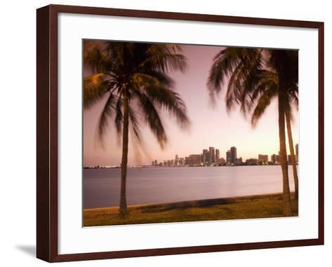 Downtown Miami Skyline at Dusk Miami, Florida, United States of America, North America-Angelo Cavalli-Framed Art Print