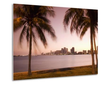 Downtown Miami Skyline at Dusk Miami, Florida, United States of America, North America-Angelo Cavalli-Metal Print
