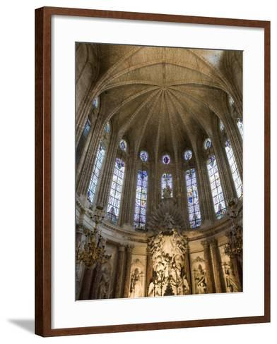 Interior of Cathedrale St.-Nazaire, Beziers, Herault, Languedoc-Roussillon, France, Europe-Martin Child-Framed Art Print