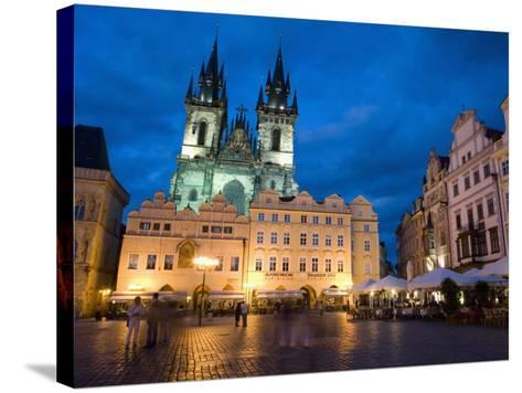 Old Town Square in the Evening, Old Town, Prague, Czech Republic-Martin Child-Stretched Canvas Print