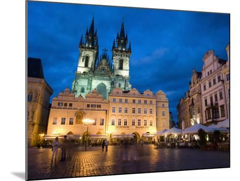 Old Town Square in the Evening, Old Town, Prague, Czech Republic-Martin Child-Mounted Photographic Print