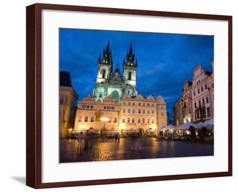 Old Town Square in the Evening, Old Town, Prague, Czech Republic-Martin Child-Framed Art Print