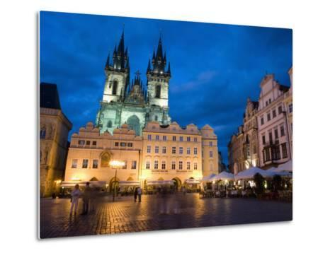 Old Town Square in the Evening, Old Town, Prague, Czech Republic-Martin Child-Metal Print