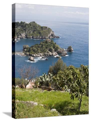 Isola Bella, Mazzaro, Sicily, Italy, Mediterranean, Europe-Martin Child-Stretched Canvas Print