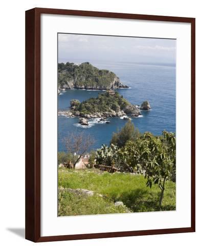 Isola Bella, Mazzaro, Sicily, Italy, Mediterranean, Europe-Martin Child-Framed Art Print