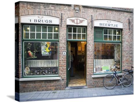 T Brugs Beertje, Bar, Bruges, Belgium, Europe-Martin Child-Stretched Canvas Print