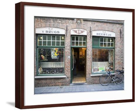 T Brugs Beertje, Bar, Bruges, Belgium, Europe-Martin Child-Framed Art Print