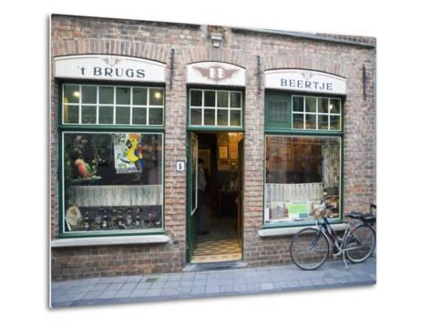 T Brugs Beertje, Bar, Bruges, Belgium, Europe-Martin Child-Metal Print