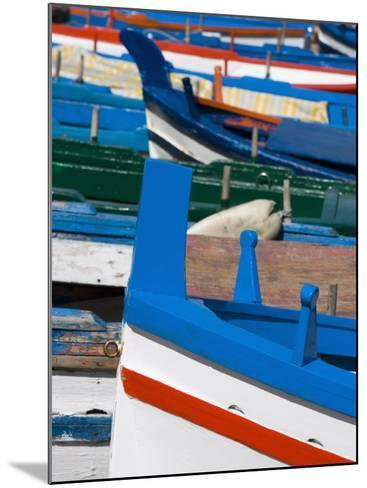 Colourful Traditional Fishing Boats, Aci Trezza, Sicily, Italy, Europe-Martin Child-Mounted Photographic Print