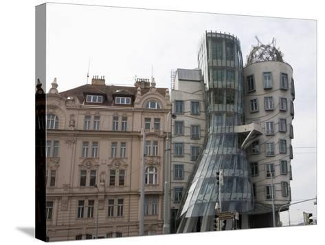 Dancing House, Prague, Czech Republic, Europe-Martin Child-Stretched Canvas Print