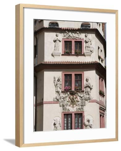 Decorative Facade of House, Karlova, Old Town, Prague, Czech Republic, Europe-Martin Child-Framed Art Print