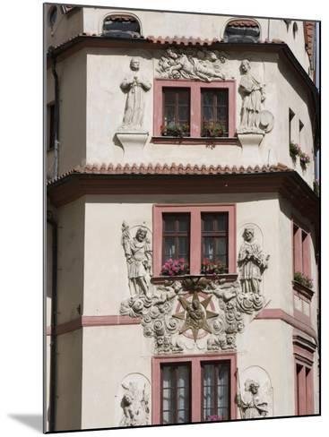 Decorative Facade of House, Karlova, Old Town, Prague, Czech Republic, Europe-Martin Child-Mounted Photographic Print