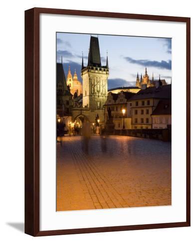 Little Quarter Bridge Tower, Little Quarter, Prague, Czech Republic-Martin Child-Framed Art Print