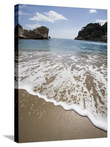 Mazzaro Beach, Taormina, Sicily, Italy, Mediterranean, Europe-Martin Child-Stretched Canvas Print