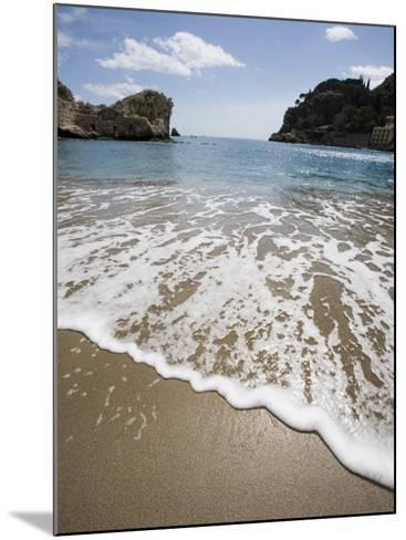 Mazzaro Beach, Taormina, Sicily, Italy, Mediterranean, Europe-Martin Child-Mounted Photographic Print