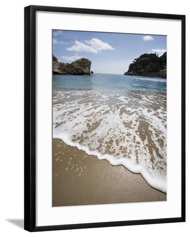 Mazzaro Beach, Taormina, Sicily, Italy, Mediterranean, Europe-Martin Child-Framed Art Print