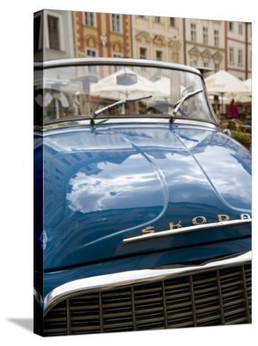 Old Blue Skoda Car, Old Town, Prague, Czech Republic, Europe-Martin Child-Stretched Canvas Print