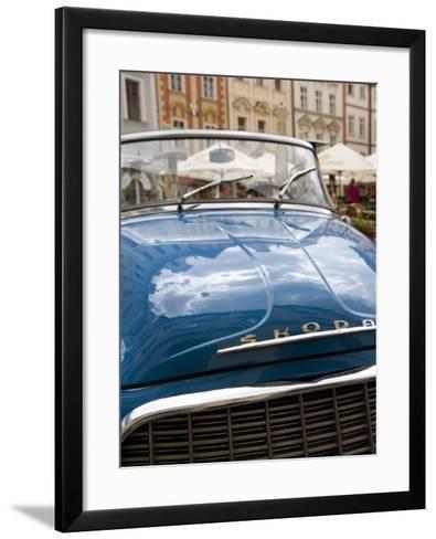 Old Blue Skoda Car, Old Town, Prague, Czech Republic, Europe-Martin Child-Framed Art Print