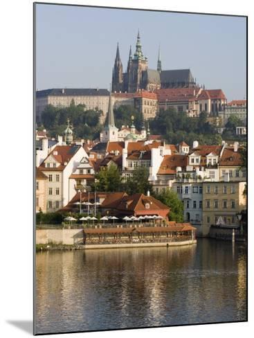 St. Vitus's Cathedral and Royal Palace on Skyline, Old Town, Prague, Czech Republic-Martin Child-Mounted Photographic Print