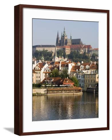 St. Vitus's Cathedral and Royal Palace on Skyline, Old Town, Prague, Czech Republic-Martin Child-Framed Art Print
