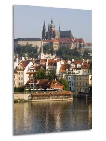St. Vitus's Cathedral and Royal Palace on Skyline, Old Town, Prague, Czech Republic-Martin Child-Metal Print