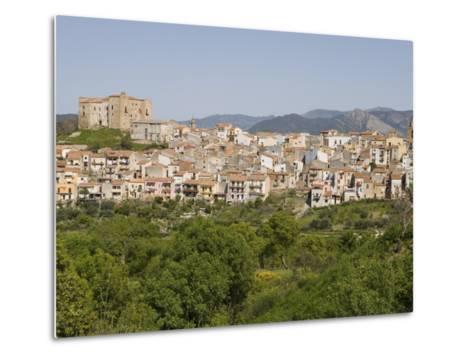 View of Castelbuono, Sicily, Italy, Europe-Martin Child-Metal Print