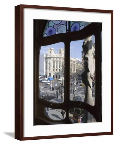 Window, Casa Batlo, Barcelona, Catalonia, Spain, Europe-Martin Child-Framed Art Print