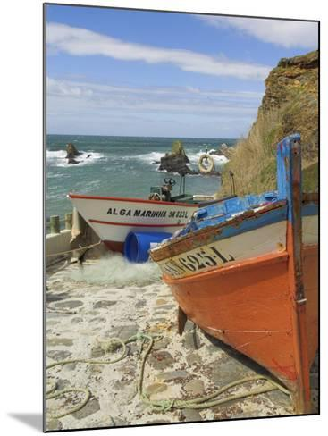 Traditional Portuguese Fishing Boats in a Small Coastal Harbour, Beja District, Portugal-Neale Clarke-Mounted Photographic Print