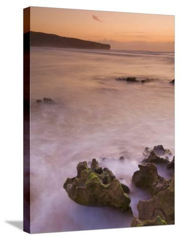 Sunset over Blurred Milky Water, Amoreira Beach Near Alzejur, Algarve, Portugal, Europe-Neale Clarke-Stretched Canvas Print