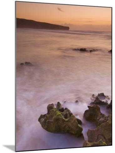 Sunset over Blurred Milky Water, Amoreira Beach Near Alzejur, Algarve, Portugal, Europe-Neale Clarke-Mounted Photographic Print