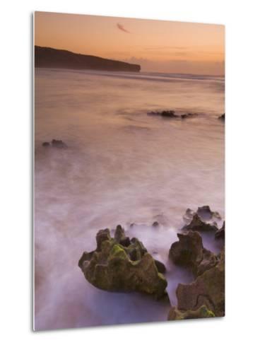 Sunset over Blurred Milky Water, Amoreira Beach Near Alzejur, Algarve, Portugal, Europe-Neale Clarke-Metal Print