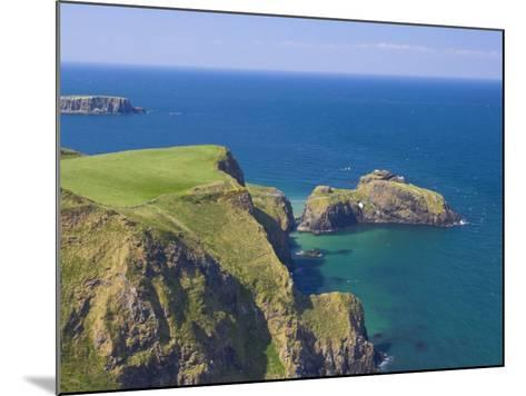 Carrick-A-Rede Rope Bridge to Carrick Island, Larrybane Bay, County Antrim, Northern Ireland-Neale Clarke-Mounted Photographic Print